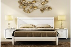 Aztec Bed high gloss white wood