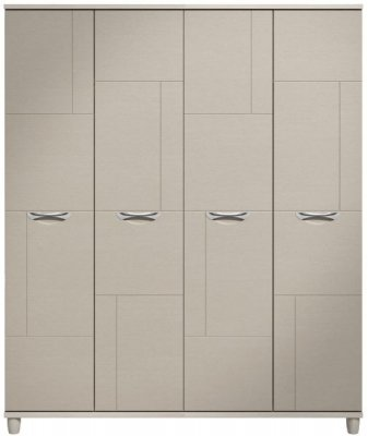 Moda elm & cashmere Wardrobe - 4 Doors