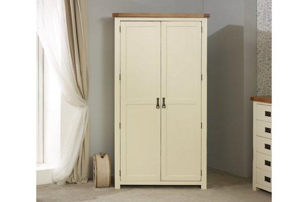 New Hampshire oak 2 Door Wardrobe grey/oak or cream/oak