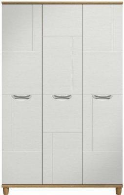 Moda Oak & white Wardrobe - 3 Doors