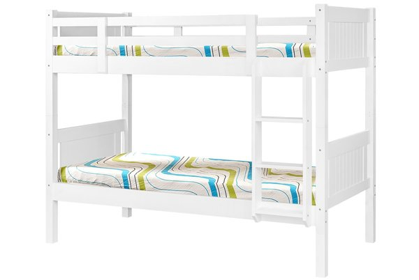 Billy White Wooden Bunk Bed