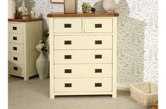 New Hampshire 4 + 2 Drawer Chest grey/oak or cream/oak