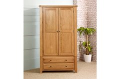 Woodstock 2 Door 2 Drawer Wardrobe oak or grey