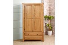 Woodstock 2 Door 2 Drawer Wardrobe oak or grey