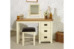 New Hampshire 3 Drawer Dressing Table cream/oak or grey/oak
