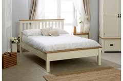 New Hampshire Low End Bed grey/oak or cream/oak