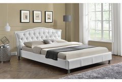 Georgio Designer Bed Frame - Double or King Size- White, Brown or Black