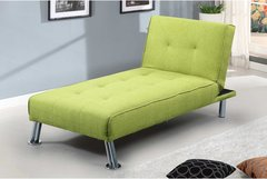 New York Fabric Upholstered Chaise Longue- Grey or Green