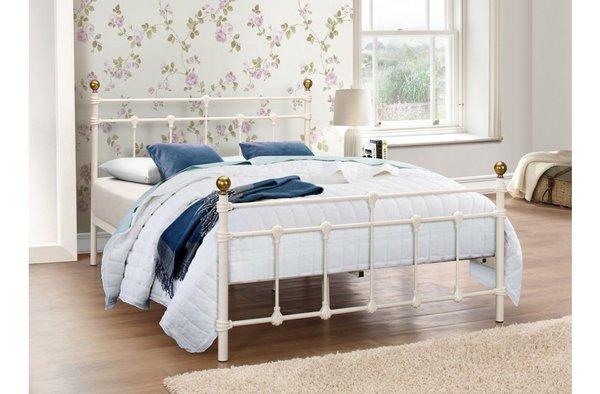 atlas bed frame black/cream