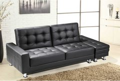 Knightsbridge Sofa Bed With Ottoman Storage- Black or Brown