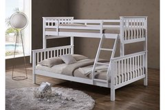 Oscar White Wooden Triple Sleeper Bed
