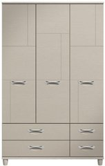 Moda elm & cashmere Wardrobe - 3 Doors 4 Drawers