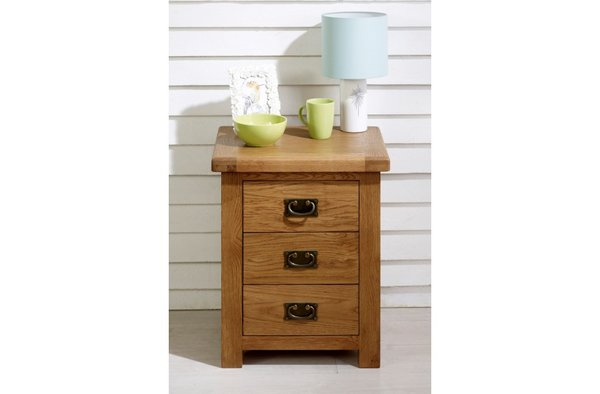 Malvern 3 Drawer Bedside