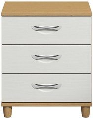 Moda Oak & white Large Chest of Drawers - 3 Drawers