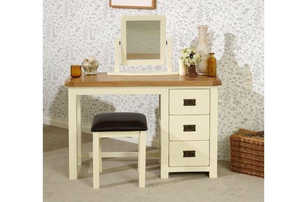 New Hampshire 3 Drawer Dressing Table cream/oak or grey/oak