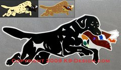 Labrador Retriever Jumping With Duck Large Magnet - Choose Color