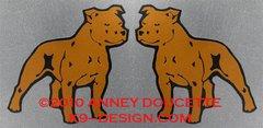 Staffordshire Bull Terrier Magnet - Choose Color