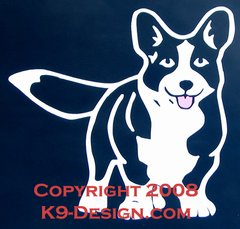Cardigan Welsh Corgi Standing Front Decal