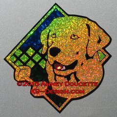 "Labrador Retriever Obedience Diamond 8"" Magnet - Choose Color"