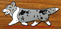 Cardigan Welsh Corgi Trotting Magnet - Choose Color