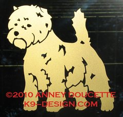 Cairn Terrier Decal - Choose Color