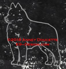 Schipperke Standing Decal - Choose Color