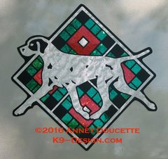 "Pointer Scottish Plaid Diamond 8"" Magnet - Choose Colors"