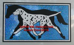 "Dalmatian & Horse Hologram 8"" Rectangle Magnet - Choose Color"