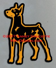 German Pinscher Standing Magnet - Choose Color