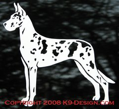 Great Dane Stacked Decal - Choose Color