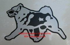 Norwegian Elkhound Trotting Magnet