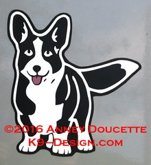 Cardigan Welsh Corgi Tracking Magnet - Choose Color
