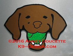 Vizsla Head with Tennis Ball Magnet