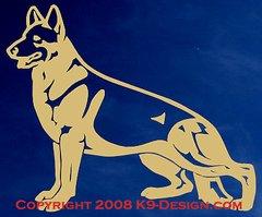 German Shepherd Dog Standing Decal - Choose Color