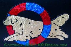 Golden Retriever Agility Tire Magnet - Choose Colors