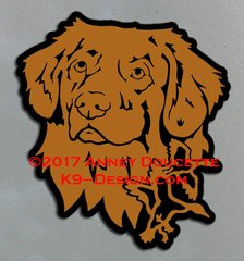 Nova Scotia Duck Tolling Retriever Small Headstudy With Ducks Magnet