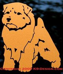 Norfolk Terrier Standing Decal