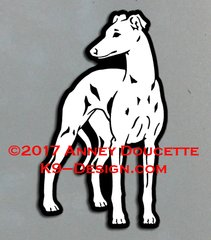 "Whippet ""Design #1"" Magnet - Choose Color"