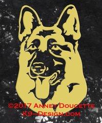 German Shepherd Dog Headstudy Decal