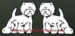 West Highland White Terrier Terrier Standing Magnet
