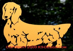 Longhaired Dachshund Standing Decal - Choose Color