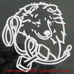Shetland Sheepdog Obedience Headstudy Decal - Choose Color