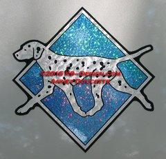 "Dalmatian Hologram Diamond 8"" Magnet - Choose Color"