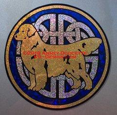 """Golden Retriever """"Celtic Knot"""" Large Magnet - Choose Colors"""