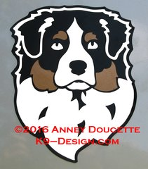 Australian Shepherd Headstudy Magnet - Choose Color