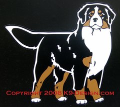 Bernese Mountain Dog Standing Front Magnet