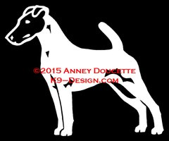 Smooth Fox Terrier Stacked Decal