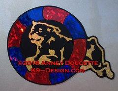 Rottweiler Agility Tire Magnet - Choose Colors