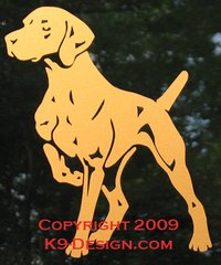 Vizsla Pointing Decal