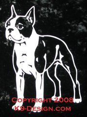 Boston Terrier Standing Decal